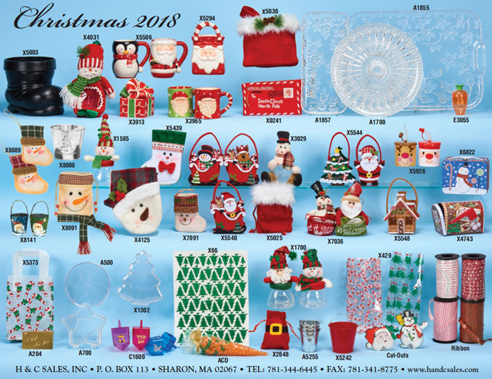 Christmas novelties, packaging & supplies for confectionery