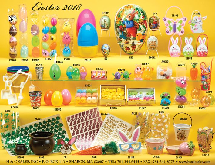 Easter novelties, packaging, supplies for confectionery